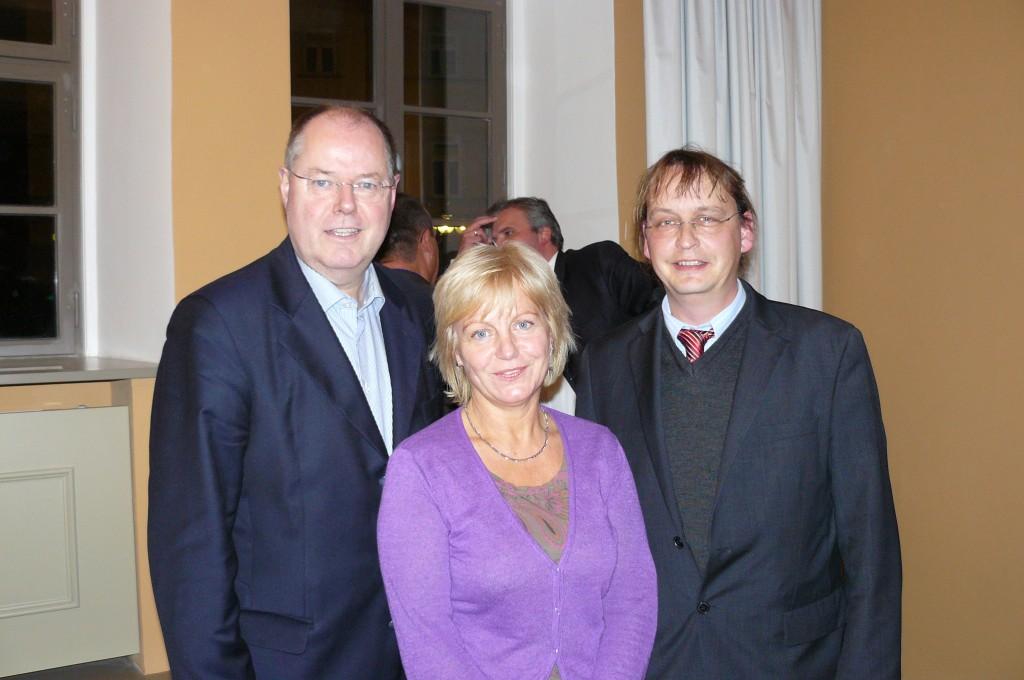 Peer Steinbrück, Karin Baier, Raik- St. Ulrich (von links)